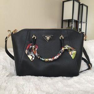 Black Handbag with Gold detailing